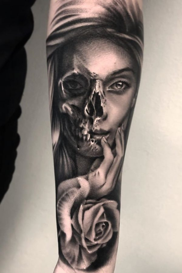 ciernobiele-tetovanie-predlaktie
